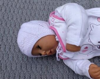 Devil hat, baby hat, baby bonnet, handknitted wool, KU 36-40 cm