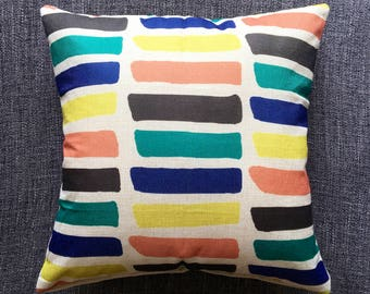 SALE • Multicolour Cushion Cover, Pillow Cover, Decorative Cushion, Throw Pillow, 45cm