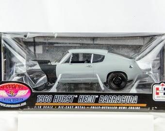 Rare Supercar Collectibles 1968 Hurst Hemi Barracuda 1/18 Scale Diecast Car