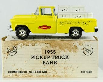 Ertl 1955 Pickup Truck Diecast Bank 1/25 Scale Chevrolet Musical