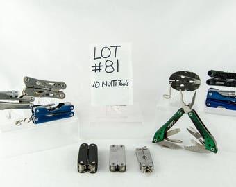 10 Multi Tool Lot # 81 Folding Knives Cabelas + More