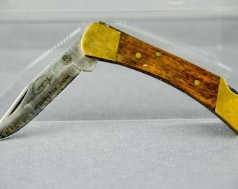 "Vintage Folding Pocket Knife Camping Hiking Hunting - 2.875"""