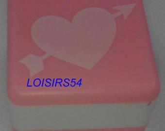 Stamp foam heart 2.5 mm x 2.5 mm