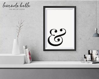 Ampersand print, affiche scandinave, typography print, scandanavian print, Ampersand poster, typography poster, minimalist print, ampersand