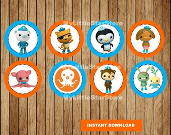 Octonauts Cupcakes Toppers, Printable Octonauts Toppers, Octonauts party Toppers Instant download