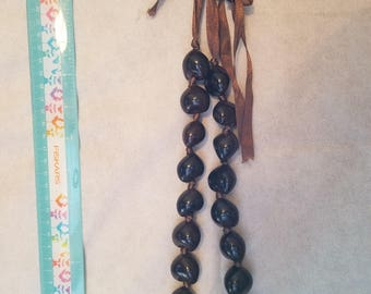 Lg. Brown beaded necklace