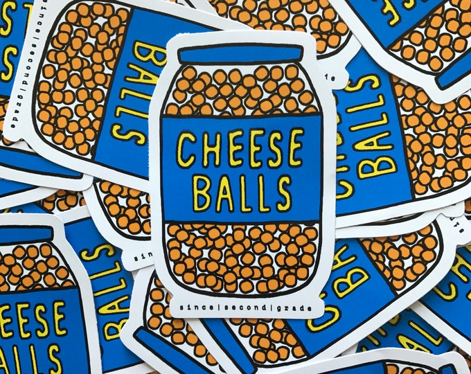 Cheese Balls Vinyl Sticker by Since Second Grade