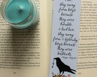 The Raven Cycle Bookmark Blue Sargent