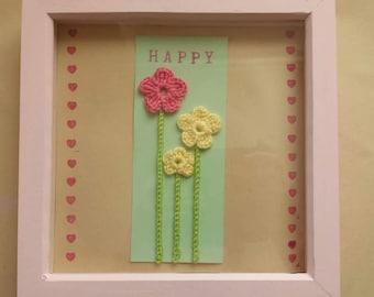 Handmade Gorgeous Flower Artwork