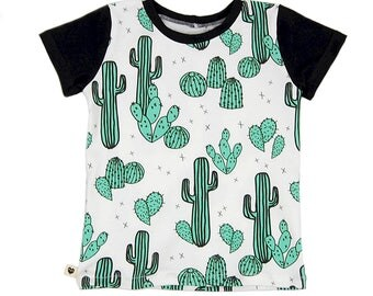 Kids t-shirt, cactus, kids clothes, toddler clothes, baby clothes