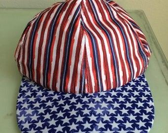 Funky and Festive Patriotic Baseball Hat Cap