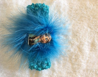 Infant/Toddler Anna Inspired Turquoise Headband