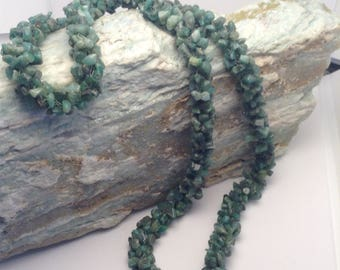 Vintage Green Natural Stone Necklace