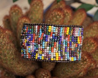 Brazilian multicolored beaded bracelet.