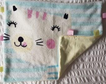 Irresistibly Soft Baby Tag Blanket, Comforter, Lovey, Sensory, Baby Shower Gift