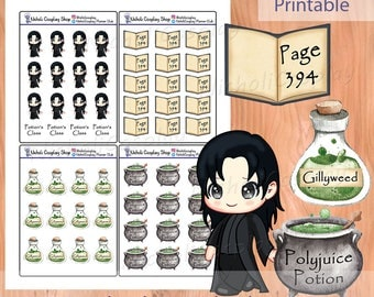 Character Chibi Sticker Set 2, Printable Planner
