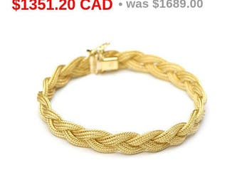 Vintage Braided Gold Bracelet