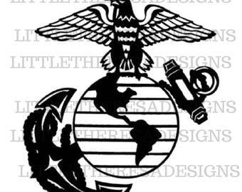 USMC Semper Fidelis Transfer,Digital Transfer,Digital Iron On ,Diy