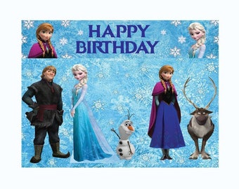 Frozen printable backdrop/frozen party supplies/frozen wallpaper/frozen supplies/frozen digital/frozen decoration/frozen party