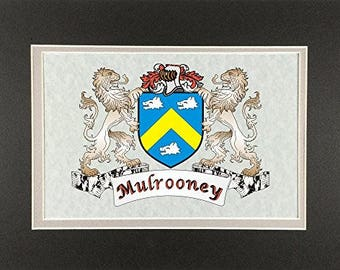 "Mulrooney Irish Coat of Arms Print - Frameable 9"" x 12"""