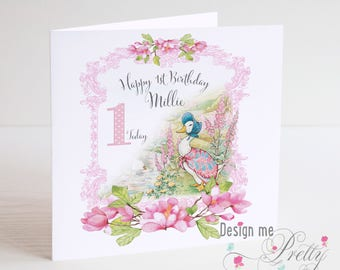 Jemima Puddle-Duck Girls Birthday Card