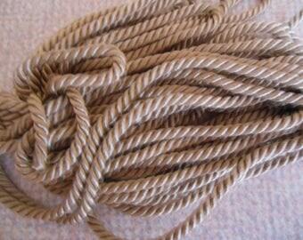 Beige rayon braided cord