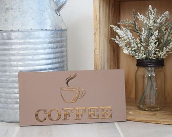 Engraved Pallet Wood Hanging Sign- Coffee | Caffeine Addict | Rustic | Housewarming | Gift | Home Decor | Kitchen | Eco Friendly