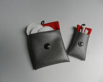 Set of two covers for toilet bag