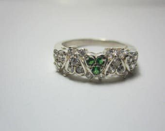 tsavorite ring, green garnet ring, beautyful