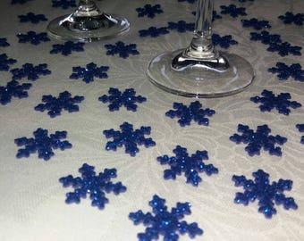 Blue glitter Confetti, snowflakes, table decorations, birthday decorations, Christmas, confetti, New Year confetti, confetti