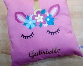 Personalized Unicorn pillow