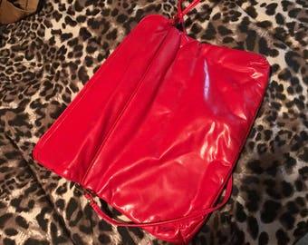 Red pleather 80s handbag