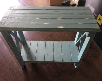Handcrafted Entryway Table