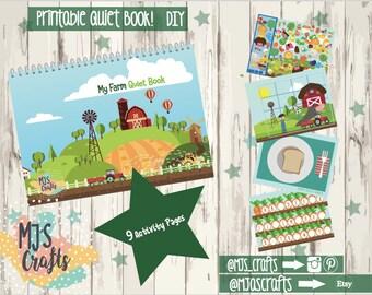 Printable Farm Quiet Book 4 years+