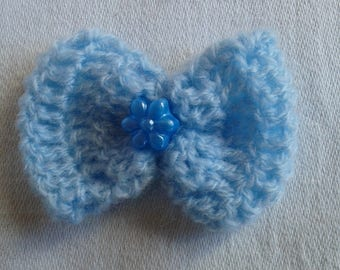 set of 2 bows with crochet with Pearl Center