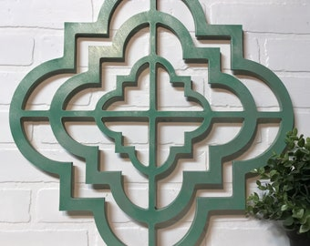 Architectural Design Wall Art Wood Cut Out