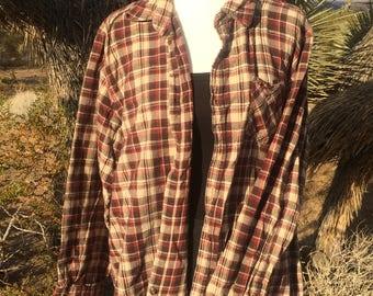Vintage Grunge 90s Plaid Shirt
