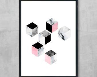 Block minimalist print