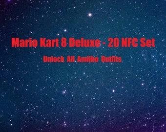 Mario Kart 8 Deluxe Amiibo NFC Tag 20 Card Set Switch Wii U - Super Smash Bros