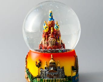 Souvenir. The snow globe. The Cathedral of our Savior on spilled Blood, or Savior on the spilled Blood . St. Petersburg. Russia