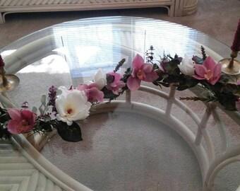 Spring Garland/Spring Decor/Tablescape/Table Decor/Wedding Decor/Centerpiece/Pink/Easter/Handmade/Unique/One of a Kind/Florals/Garden Decor