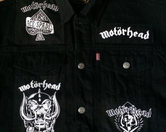 Motorhead Black Denim Cut-Off Patch Waistcoat Battle Jacket Vest S-4XL Ace Of Spades Born To Lose Live To Win Raise Hell Rock 'n' Roll