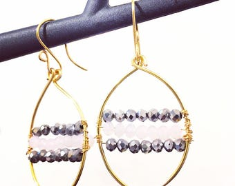 Goldfilled Czech Crystals Earrings