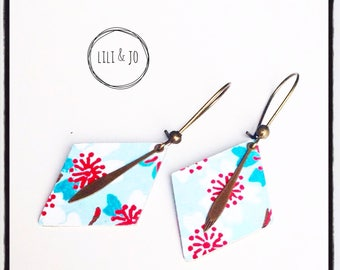 Japanese collection: Diamond blue cherry blossoms earrings