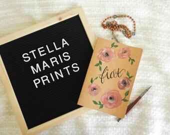 Hand Painted Journal, Fiat, Original Painted Journal, Prayer Journal, Bullet Journal