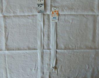 Length 22 cm white invisible zipper