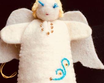 White Felt Angel