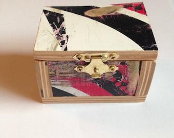 Recycled Skateboard Jewelry Box