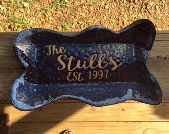 Personalized Pottery Plate
