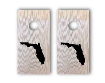 State Miniature Cornhole Board | Florida | Texas | New York | California | State Gifts | Mini Cornhole Boards | Cornhole | All weather bags
